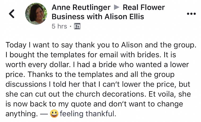 Wedding Templates for Florists